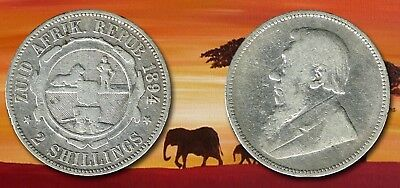 SOUTH AFRICA Boer Republic:- Silver 2 shillings coin dated 1894. AP6220