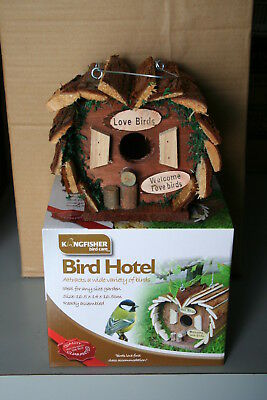 Wholesale stock job lot Wooden bird hotel nesting box for small birds x8