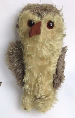 Antique Vintage 1930's Alpha Farnell Straw Filled Owl Soft Toy
