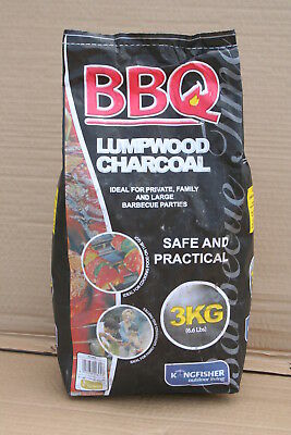 Wholesale stock job lot 3KG Bag Lumpwood Charcoal for Barbecues  x6 per pack
