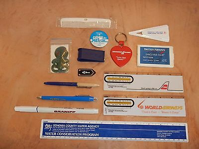 Lot Of 13 Vintage, Original Airline Giveaway Collectibles  (1)