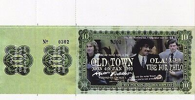 Phil Lynott Vibe For Philo Ticket1999 Rare Original Printers Own Unused Ticket