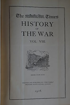 WW1 British The Times History of the War Volume VIII  Reference Book