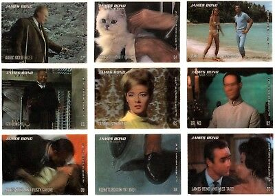 James Bond In Motion Rittenhouse Archives Complete Trading Card Base Basic Set