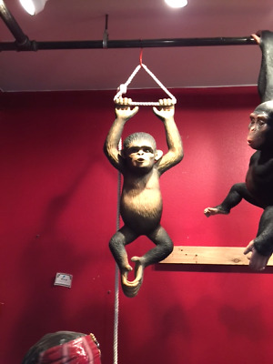 Orangutang Baby Hanging Statue Monkey Decor Display