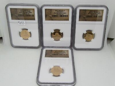 Set of 4 2009-S Lincoln Bronze Pennies - NGC PF69 RD
