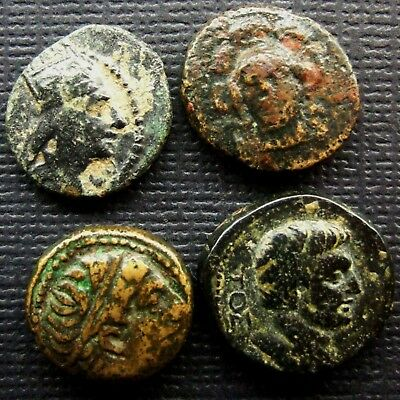 Ancient Greek Coins. Lot of 4 AE coins