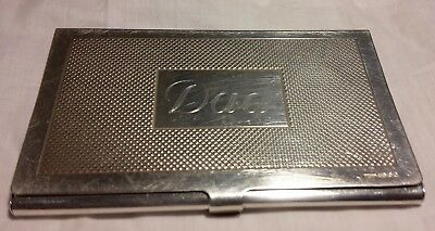 "Sterling Silver Card Case Hm 2009 Inscribed ""dad"""