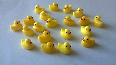 Ducks yellow tiny x 20 DOLLS HOUSE MINIATURES CRAFTS (F5171)
