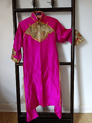 Vintage 1980s Hong Kong Silk Chinese Embroidery Samfu Dress by Jenny Lewis