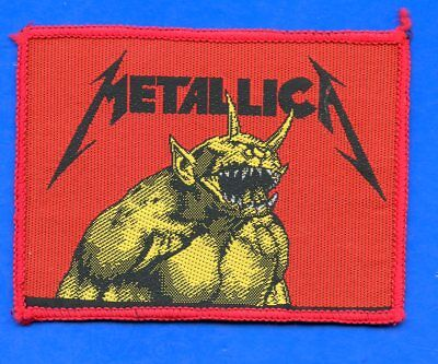 Metallica Jump In The Fire vintage 1980s SEW-ON PATCH