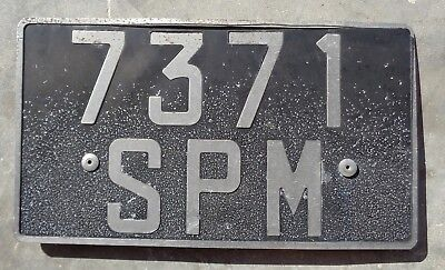 St Pierre and Miquelon Older franch style license plate # 7371  SPM