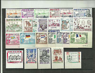 Liberia- 5 Unlisted Imperf Sets- Value ? ( 24 Stamps )