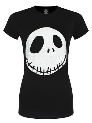 The Nightmare Before Christmas Damen T-Shirt Cracked Face schwarz