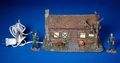 Hawthorne FRIDAY THE 13th LE Lighted CAMP CRYSTAL LAKE CABIN Display + 2 JASON