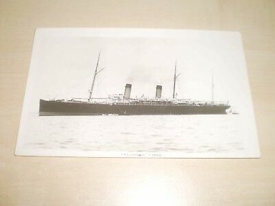 """1889 White Star Line """"Teutonic"""" Liner Plain Back Photo By Nautical Photo Agency"""
