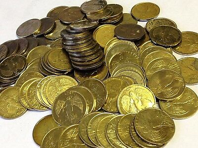 100 x Angel Tokens, brass medals, good luck charms, Wholesale Lot