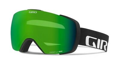 NEW Giro Contact Black Green Mens Oversized ski goggles +2 lenses 2017 Msrp$240