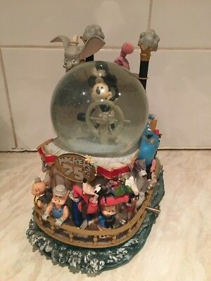Disney Snow Globe Musical Large Mickeys 75th Anniversary Mickey Mouse March