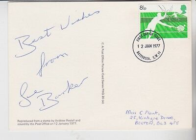 Gb Stamps Sports Phq Card Signed By Tennis Star Sue Barker