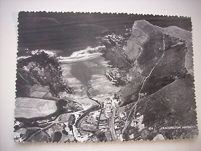 OLD RP POSTCARD AERIAL VIEW of CRACKINGTON HAVEN, CORNWALL