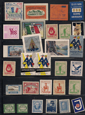 Cinderella Poster Stamp Collection lot Spain Germany France USA Czechoslovakia