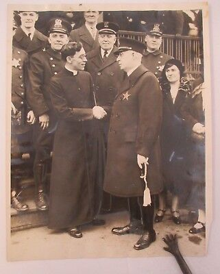 1931 Vintage Photo of Former Police Officer Ordained As Priest w/ Commissioner