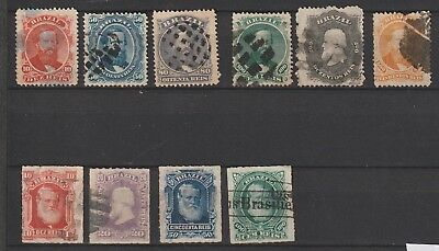 Brazil 1861-1868 lot best one 50r damaged don't count used