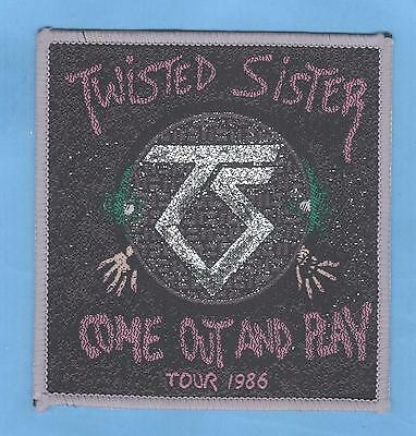 Twisted Sister Come Out And Play vintage 1980s SEW-ON PATCH