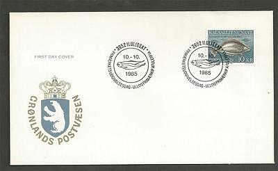 GREENLAND - 1985 Greenland Halibut  - FIRST DAY COVER.