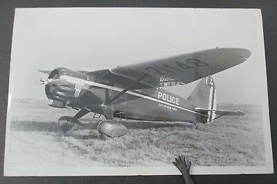 Vintage 1941 NYC Police Department Photo of Police Airplane