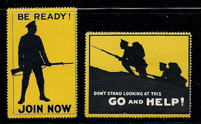 WWI Poster Cinderella Stamp Great Britain Soldiers Mint never hinged Patriotic