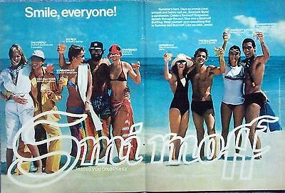 1977 Smirnoff Vodka Beach Party Smile Everyone Leaves You Breathless ad