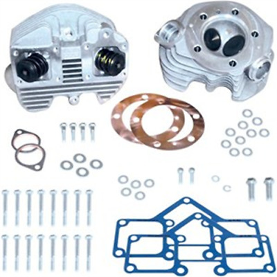 S&S Cycle Super Stock Cylinder Heads (Band Intake) - 3-5/8in. Bore - Natural Fin