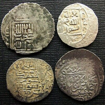 Medieval Islamic, Lot of 4 Silver coins, Various periods and dynasties