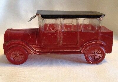 Vintage Glass Limousine Candy Container