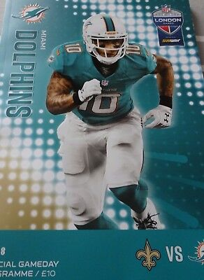 Nfl International Series Saints Dolphins Official Gameday Programme Brand New