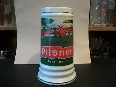 Old Style Pilsner Beer Stein With White Rabbit On Base