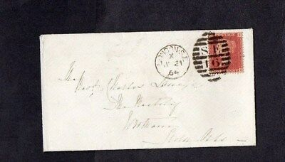 1864.COVER.QV.1d RED PLATE No.80.LONDON S.E.DUPLEX D/S. 'SEVENOAKS' BACKSTAMP.