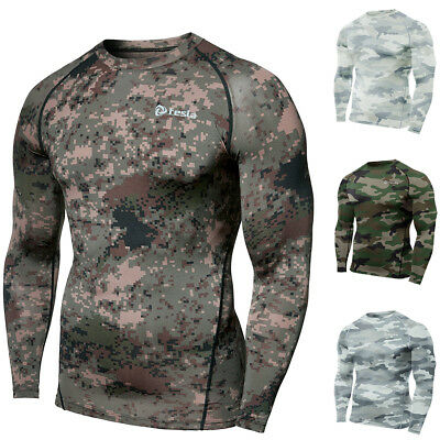 Tesla R11 Cool Dry Baselayer Antimicrobial Long Sleeve Compression Shirt