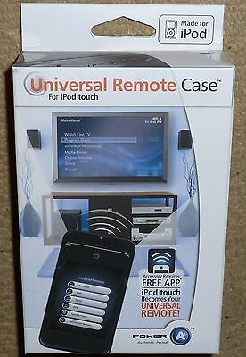 APPLE IPOD TOUCH 2nd GEN UNIVERSAL IR REMOTE CONTROL CASE NEW TV DVD AMP SKY BOX