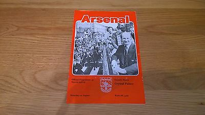 1978/79  Arsenal  v  Crystal Palace -  Friendly