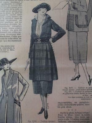 1920s vintage coat with inset bodice French sewing pattern b 37