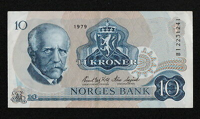 NORWAY (P36c) 10 Kroner 1979 VF+