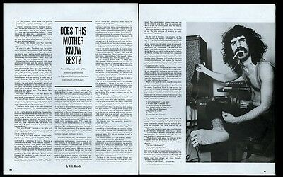 1968 Frank Zappa photo and interview vintage print article