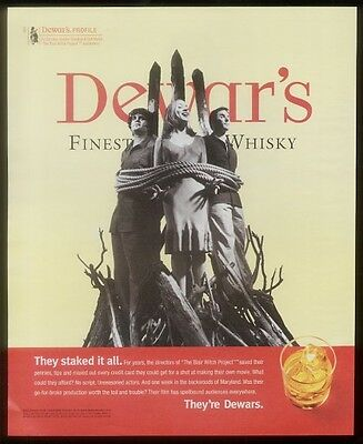 1999 The Blair Witch Project directors photo Dewar's ad