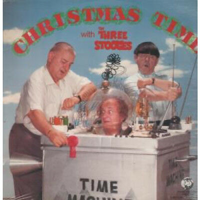 """THREE STOOGES Christmas Time With 12"""" VINYL US Rhino 1983 6 Track EP Still"""