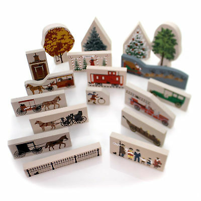 Cats Meow Village 1990 ACCESSORY SET 18 Accessory Retired Trees 1995 1990 Set/18