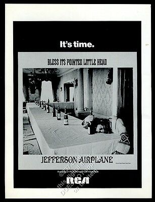 1969 Jefferson Airplane Bless Its Pointed Little Head album release print ad