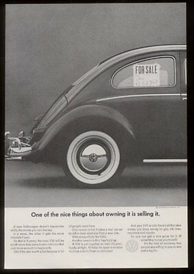 1964 Volkswagen Beetle bug photo high resale price vintage print ad